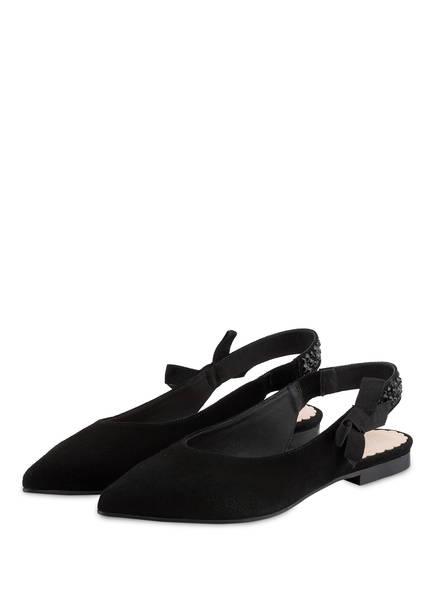 MARCCAIN Sling-Ballerinas, Farbe: SCHWARZ (Bild 1)