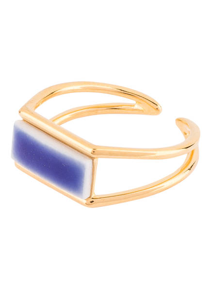 LOUISE KRAGH Ring, Farbe: GOLD/ BLAU (Bild 1)