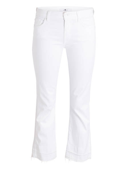 7 for all mankind Jeans CROPPED BOOT UNROLLED, Farbe: WEISS (Bild 1)