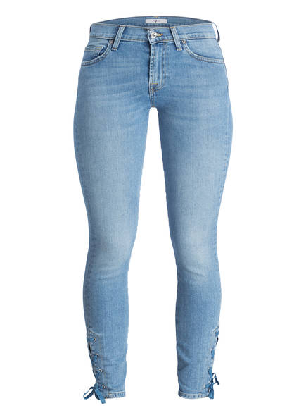 7 for all mankind Cropped-Jeans THE SKINNY CROP, Farbe: FB MID BLUE (Bild 1)