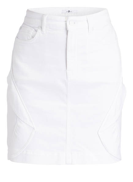 7 for all mankind Jeansrock, Farbe: WEISS (Bild 1)