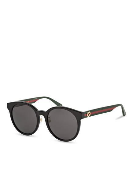 GUCCI Sonnenbrille GG0416SK, Farbe: 002 - SCHWARZ/ GRAU  (Bild 1)