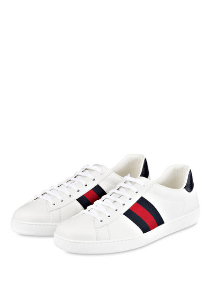 GUCCI Sneaker NEW ACE, Farbe: WHITE/ BLUE (Bild 1)