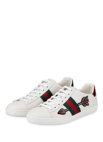 GUCCI Sneaker NEW ACE, Farbe: BIANCO/VRV/RED (Bild 1)