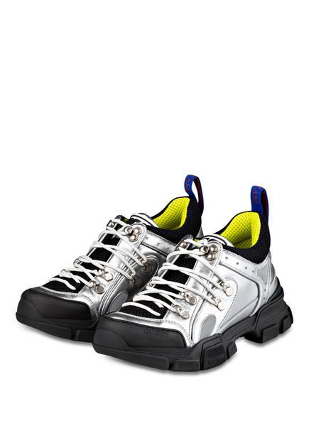 GUCCI Sneaker FLASHTREK, Farbe: SILBER/ SCHWARZ (Bild 1)