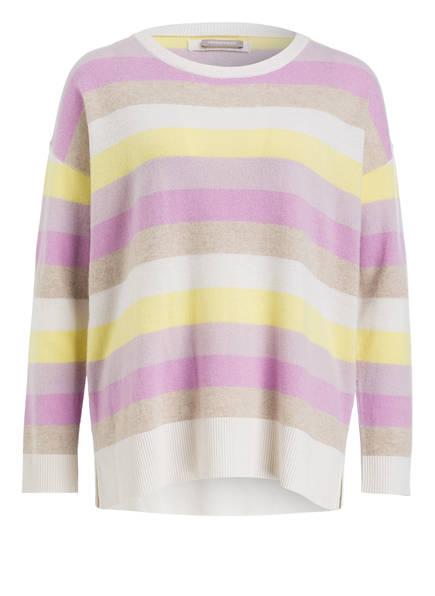 HEMISPHERE Cashmere-Pullover , Farbe: HELLLILA/ GELB/ HELLBRAUN (Bild 1)