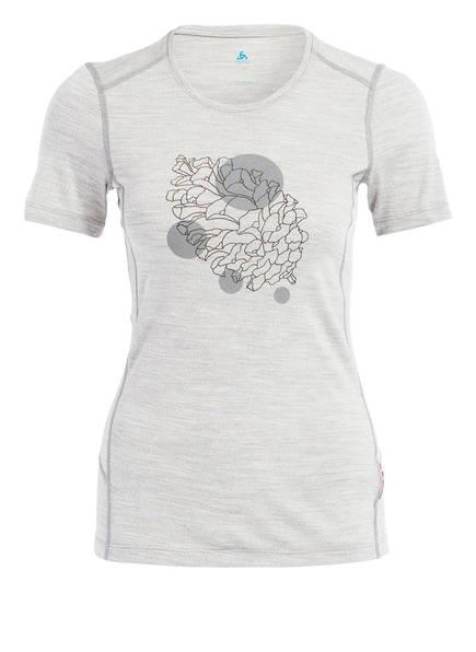odlo T-Shirt ALLIANCE aus Merinowolle, Farbe: GRAU MELIERT (Bild 1)