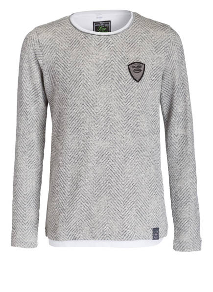 KEY LARGO Pullover, Farbe: GRAU MELIERT (Bild 1)