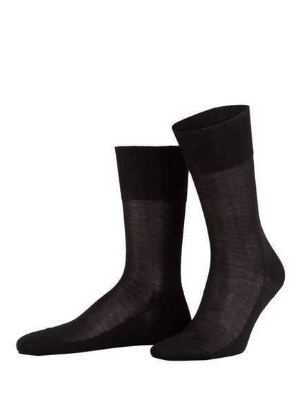 FALKE Socken LUXURY NO.4 PURE SILK  aus Seide, Farbe: 3000 BLACK (Bild 1)