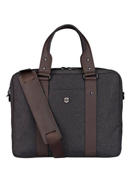 VICTORINOX Business-Tasche BODMER 14 mit Laptopfach, Farbe: DUNKELGRAU/ BRAUN (Bild 1)
