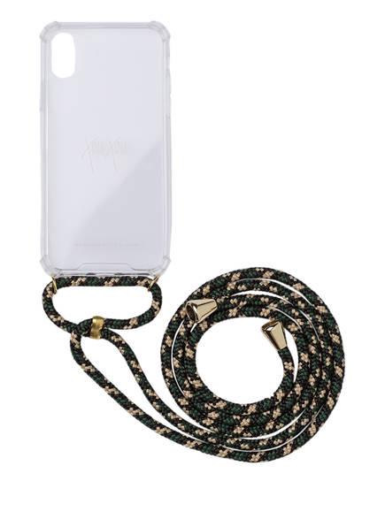 xouxou Smartphone-Hülle, Farbe: DUNKELGRÜN/ CREME/ SCHWARZ (Bild 1)