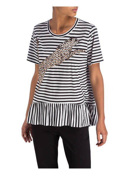 shirt T Marccain amp;white 910 Black xq8wW1Y5