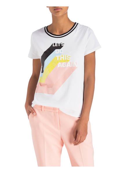 White 422 Mit shirt Paillettenbesatz T Marccain Fwqx8OUAxX