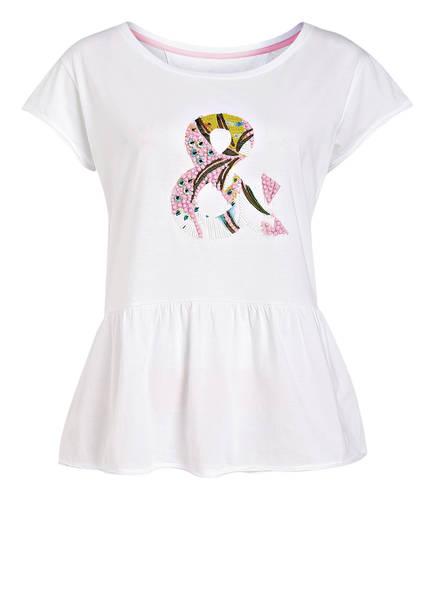 MARCCAIN T-Shirt mit Schößchen, Farbe: WEISS (Bild 1)