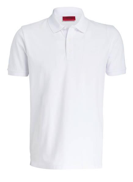 HUGO Piqué-Poloshirt DONOS Regular Fit, Farbe: WEISS (Bild 1)