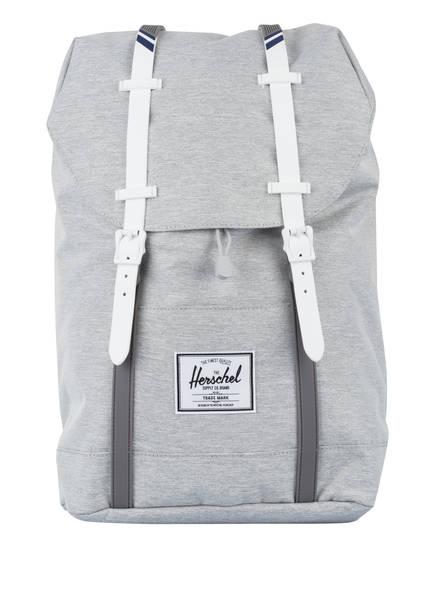 Herschel Rucksack RETREAT 19,5 l, Farbe: 01866 light grey crosshatch/white (Bild 1)