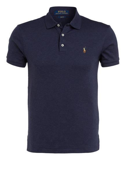 POLO RALPH LAUREN Jersey-Poloshirt Slim Fit, Farbe: NAVY MELIERT (Bild 1)