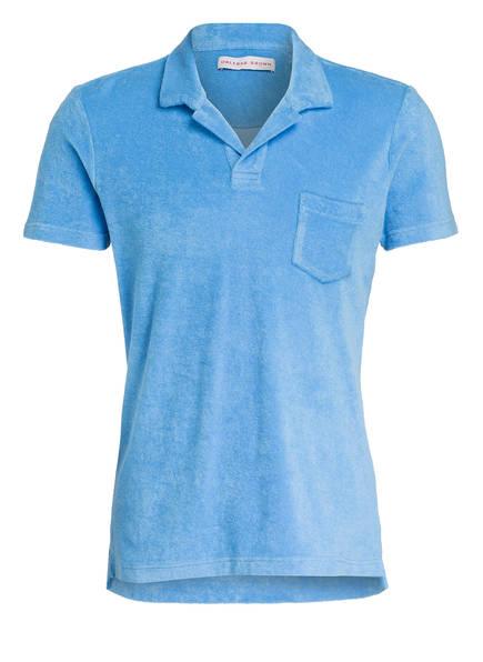 ORLEBAR BROWN Frottee-Poloshirt, Farbe: BLAU (Bild 1)