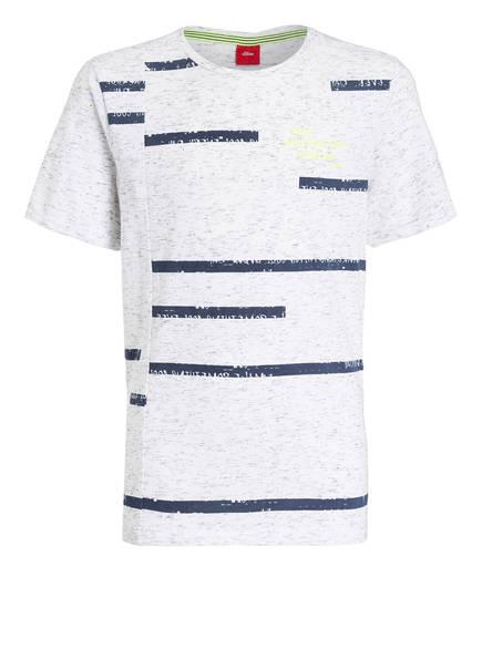 s.Oliver T-Shirt, Farbe: WEISS/ BLAU MELIERT (Bild 1)
