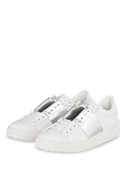 VALENTINO GARAVANI Sneaker OPEN, Farbe: WEISS/ SILBER METALLIC (Bild 1)