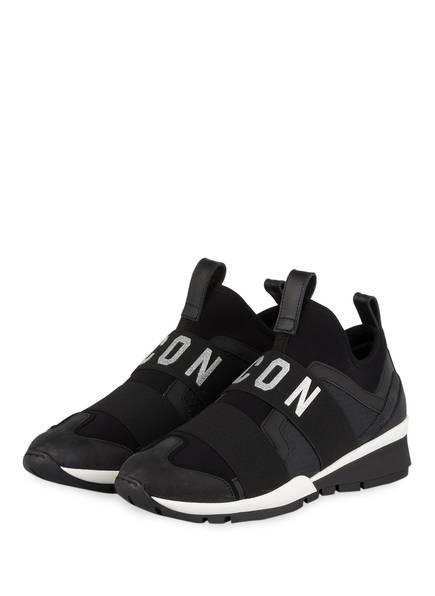 DSQUARED2 Slip-on-Sneaker ICON, Farbe: SCHWARZ/ SILBER (Bild 1)