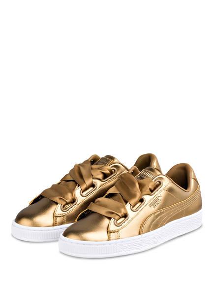 PUMA Sneaker BASKET HEART LUXE , Farbe: GOLD (Bild 1)