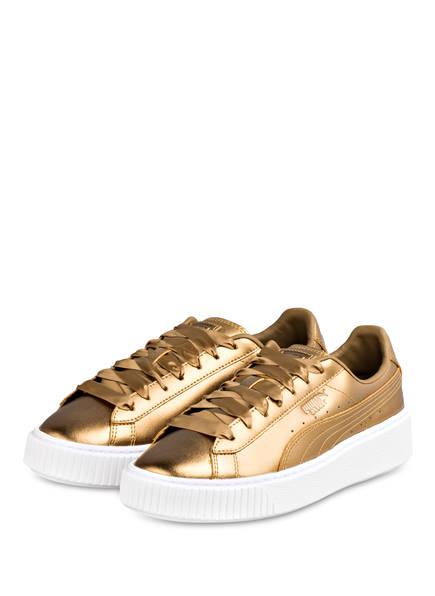 PUMA Sneaker BASKET PLATFORM LUXE, Farbe: GOLD (Bild 1)