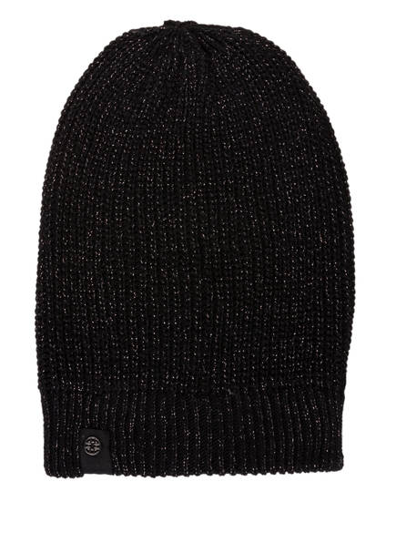 DARLING HARBOUR Mütze mit Metallic-Fasern, Farbe: SCHWARZ (Bild 1)