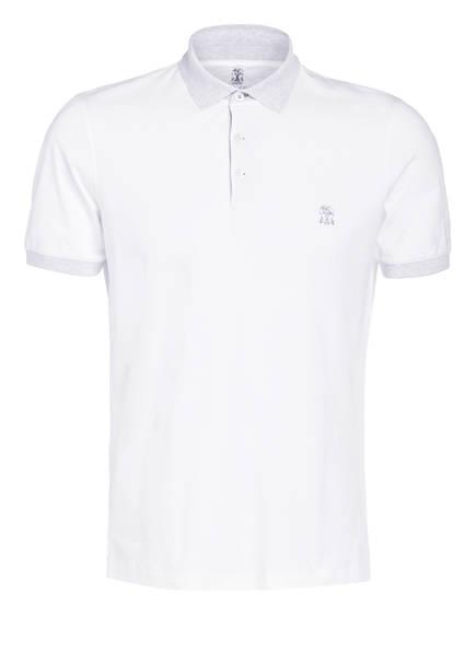 BRUNELLO CUCINELLI Jersey-Poloshirt Slim Fit, Farbe: WEISS (Bild 1)