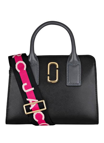 MARC JACOBS Saffiano-Handtasche LITTLE BIG SHOT, Farbe: SCHWARZ/ GRAU (Bild 1)