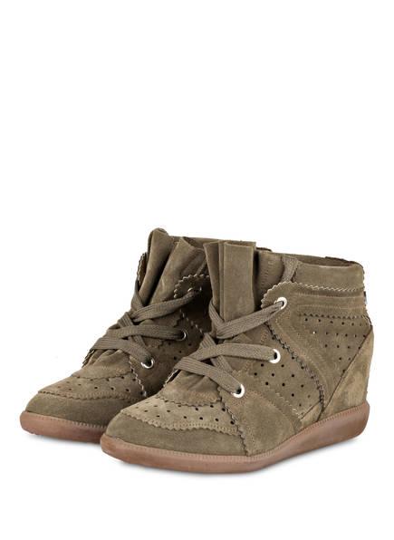 ISABEL MARANT Plateau-Sneaker BOBBY , Farbe: KHAKI (Bild 1)