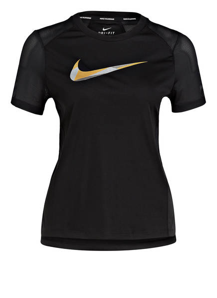 Nike Laufshirt MILER METALLIC, Farbe: SCHWARZ (Bild 1)