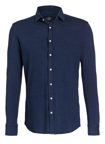 HACKETT LONDON Piqué-Hemd Slim Fit, Farbe: BLAU MELIERT (Bild 1)