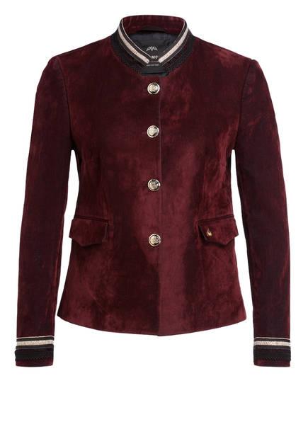MOS MOSH Blazer-Jacke aus Samt, Farbe: DUNKELROT (Bild 1)