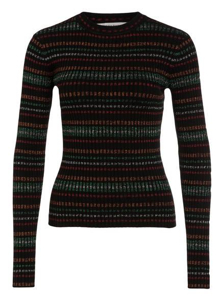 GESTUZ Pullover MULTA, Farbe: SCHWARZ/ GRÜN/ ROT (Bild 1)