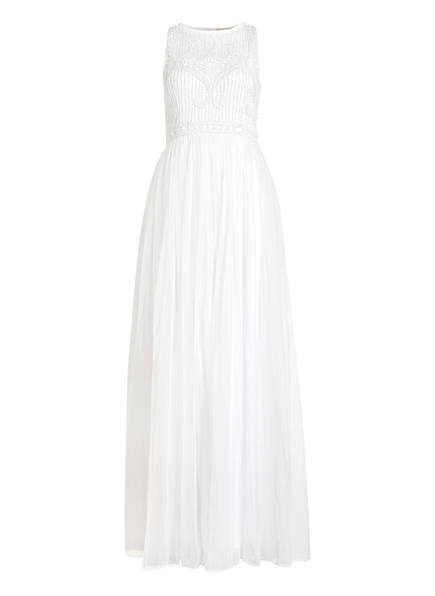 frock & frill Abendkleid mit Paillettenbesatz, Farbe: WEISS (Bild 1)