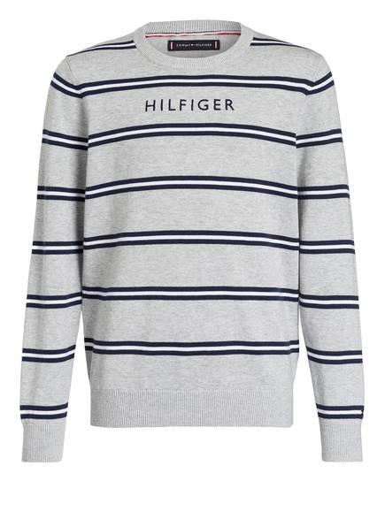 TOMMY HILFIGER Pullover, Farbe: GRAU/ BLAU/ WEISS GESTREIFT (Bild 1)