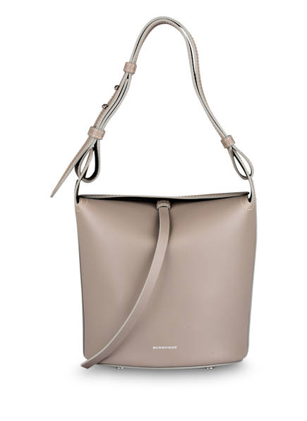 BURBERRY Beuteltasche THE SMALL BUCKET, Farbe: TAUPE BROWN (Bild 1)