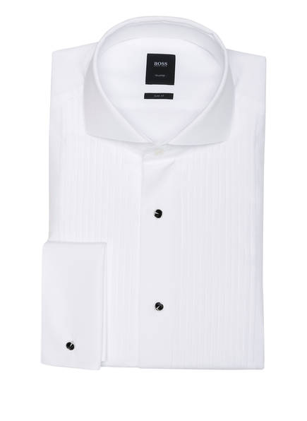 BOSS Smoking-Hemd T-CESAR Slim Fit, Farbe: WEISS (Bild 1)