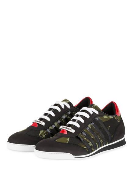 DSQUARED2 Sneaker NEW RUNNER, Farbe: SCHWARZ/ OLIV/ DUNKELGRÜN (Bild 1)