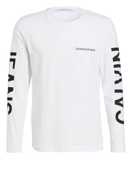 Calvin Klein Jeans Langarmshirt, Farbe: WEISS (Bild 1)
