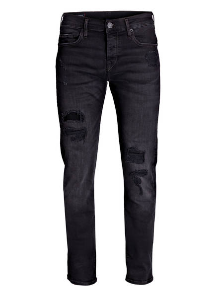 TRUE RELIGION Destroyed-Jeans ROCCO Relaxed Skinny Fit, Farbe: BLACK (Bild 1)