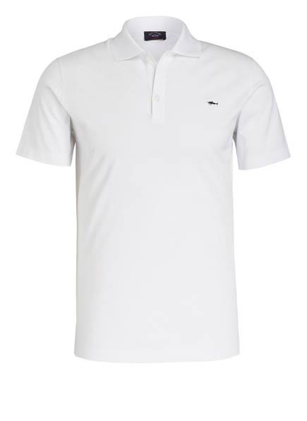 PAUL & SHARK Piqué-Poloshirt, Farbe: WEISS (Bild 1)