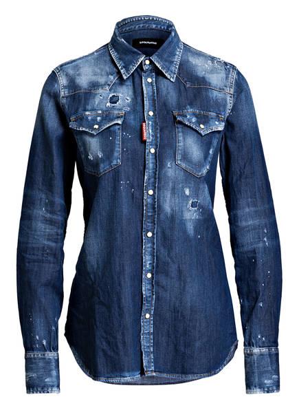 DSQUARED2 Destroyed-Jeansbluse, Farbe: BLUE (Bild 1)