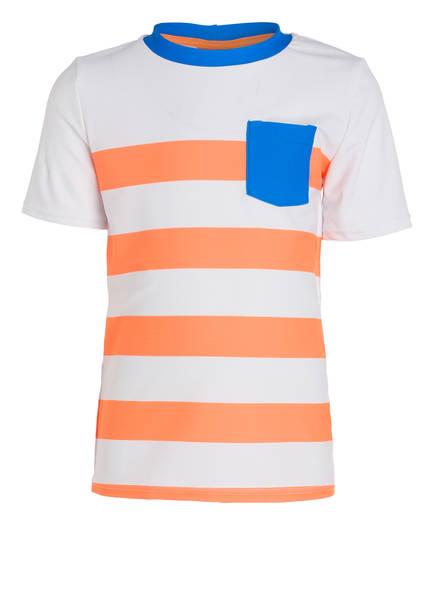 SUNUVA T-Shirt UV-Schutz mit UPF 50+, Farbe: WEISS/ ORANGE (Bild 1)