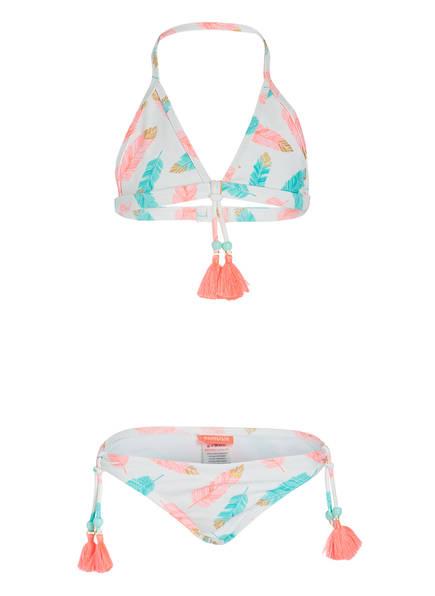 SUNUVA Triangel-Bikini UV-Schutz mit UPF 50+, Farbe: WEISS/ ROSA/ TÜRKIS (Bild 1)