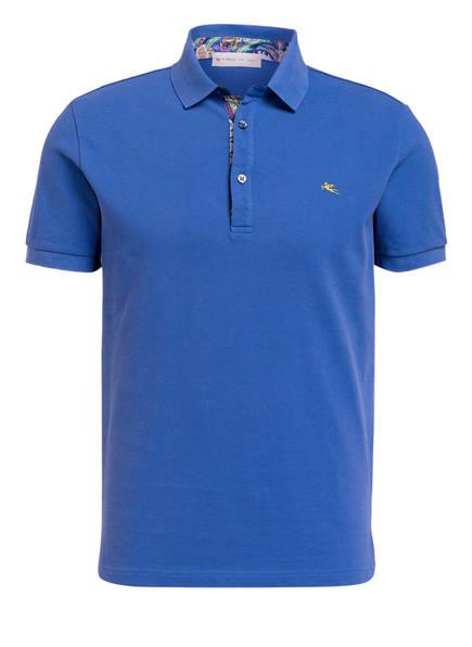 ETRO Piqué-Poloshirt, Farbe: BLAU (Bild 1)
