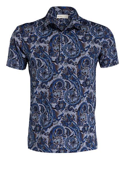 ETRO Piqué-Poloshirt, Farbe: NAVY/ HELLBLAU (Bild 1)