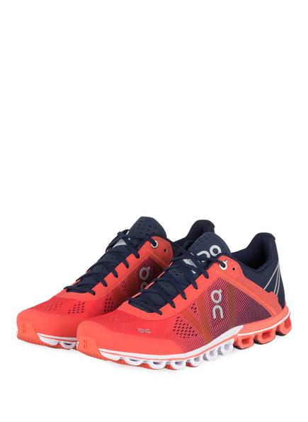 On Running Laufschuhe CLOUDFLOW, Farbe: HELLROT/ BLAU (Bild 1)