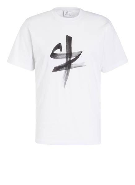 VETEMENTS T-Shirt mit chinesischem Sternzeichen, Farbe: WEISS/ OCHSE (Bild 1)